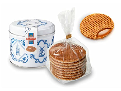 Daelmans Stroopwafel Tin | Caramel Stroopwaffles | Caramel Wafers - 330 g per tin - Warm it up on Your Cup - Great Small Gift for Friends, Family & Colleagues from Daelmans