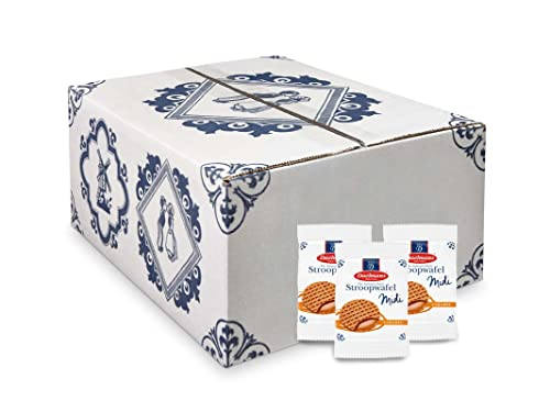 Daelmans Midi Stroopwafel | Caramel Stroopwaffle | Caramel Wafer - 15 g x 150 in a Box - Great for Sharing with Friends, Family & Colleagues - Great Gift for Events, fairs or as Snack at The Office from Daelmans