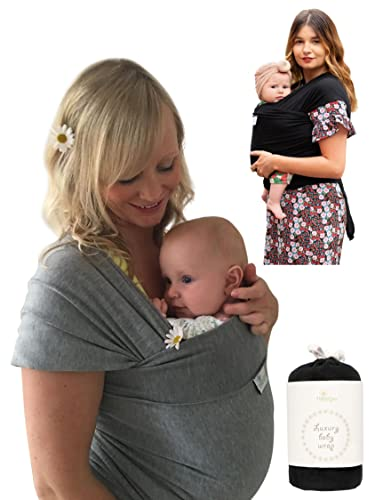 DaisyGro Baby Sling and Baby Wrap Carrier, 2 Size Options, Soft Cotton, Grey from DaisyGro