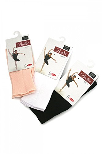 SILKY BALLET SOCKS C9 - C12 BLACK from Silky