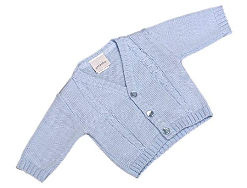 Dandelion Baby Boy Cable Knitted Bolero Cardigan for Newborn - 18 Months (3-6 Months, Blue) from Dandelion Clothing