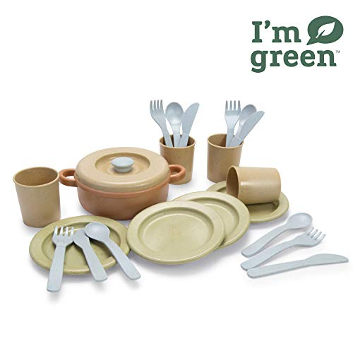 Dantoy Bio-Toy Pretend Play Dinner Set 22 Pieces, Eco-conscious Toys made from Sugarcane from Dantoy