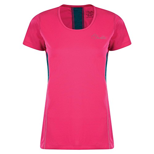 Dare2B Women's Aspect T-Shirts/Polos/Vests, Cyber Pink, Size 8 from Dare 2b