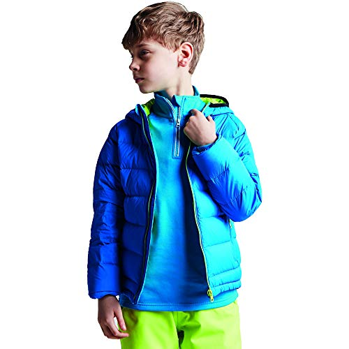 Dare2B Kid's Download Water Repellent Hooded Down Jacket, Athletic Blue, Size 9-10 from Dare 2b
