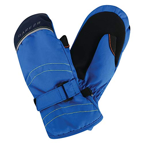Dare2B Kid's Handful Insulated And Water Repellent Winter Ski Gloves, Athletic Blue, Size 11-12 from Dare 2b