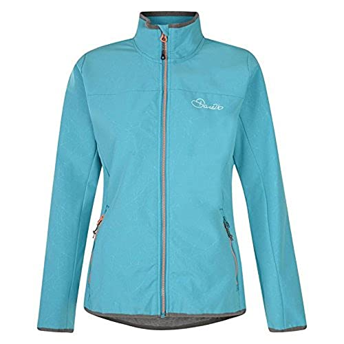 Dare2B Women's Centra Softshell Jackets, Sea Breeze, Size 14 from Dare 2b
