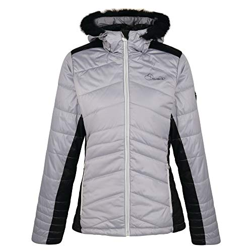 Dare2B Women's Comprise Water Repellent Insulated Down Jacket, Silver Flash/Black, Size 14 from Dare 2b