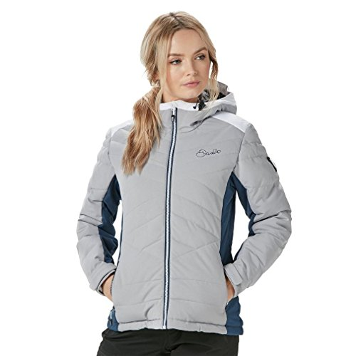 Dare2B Women's Illation II Waterproof Insulated Jacket, Silver Flash, Size 14 from Dare 2b