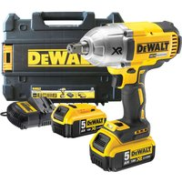 "DeWalt DCF899 18v XR Cordless 1/2"" Drive Impact Wrench 2 x 5ah Li-ion Charger Case from DeWalt"