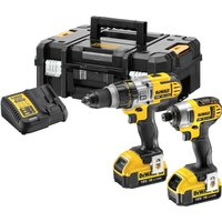 DeWalt DCK290M2T 18v XR Cordless Combi Drill and Impact Driver Kit 2 x 4ah Li-ion Charger Case from DeWalt