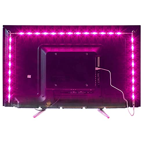 2M LED TV Backlight USB Bias Lighting with 16 Colors and 4 Dynamic Mode for 40 To 60 Inch HDTV,PC Monitor,Led Light Strip.(4pcs x 50cm Led Strips) from MY LAMP