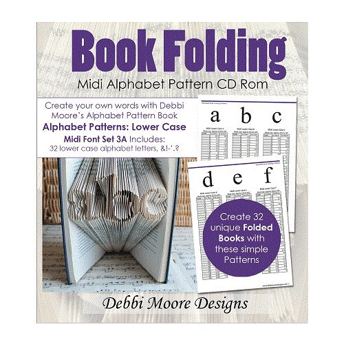 Debbi Moore Book Folding Alphabet Pattern Midi Font Set 3A Lower Case CD 324644 from Debbi Moore Designs