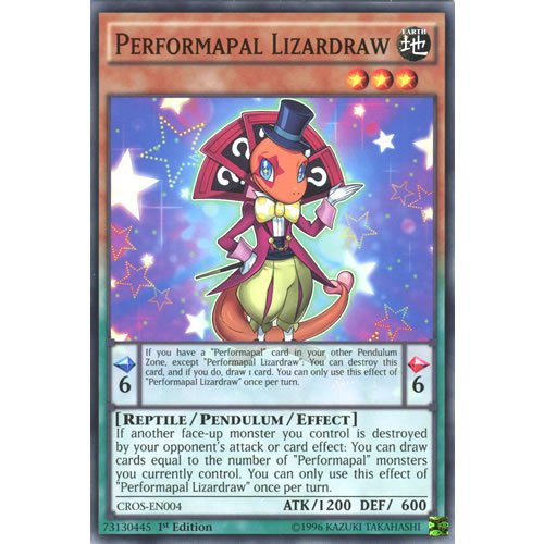 CROS-EN004 1st Ed Performapal Lizardraw Common Card Crossed Souls Yu-Gi-Oh Single Card from YGO
