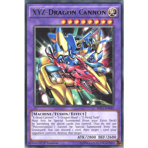 YuGiOh : MIL1-EN040 1st Ed XYZ-Dragon Cannon Rare Card - ( Millennium Pack ) by Deckboosters from YGO
