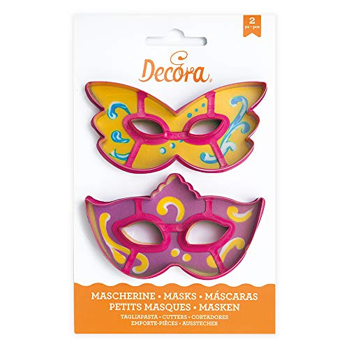 Decora Mask Cookie Cutters Kit, Pink, 23.5 x 15.5 x 2.9 cm from Decora