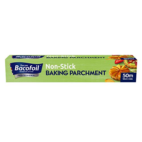 Deli Supplies 1 x Roll Baco Baking Parchment Paper 50M x 45cm Great Value Professional Catering Kitchen from delisupplies