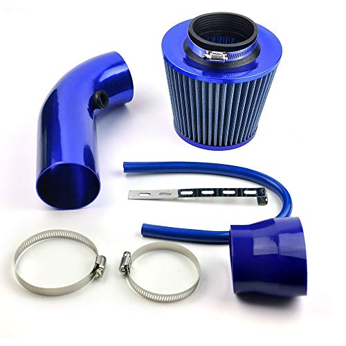 DELIPOP Universal Car Automobile Racing Air Intake Filter Alumimum Pipe Power Flow Kit Blue from DELIPOP