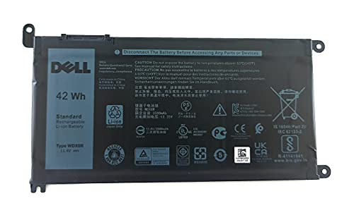 Genuine Dell Battery WDX0R 42Whr 4-cell 11.4V for Dell Inspiron 13 5368 5378 7368 7378, Inspiron 15 5565 5567 5568 5578 7560 7570 7579 7569 P58F and Inspiron 17 5765 5767 (Type WDX0R) from Dell
