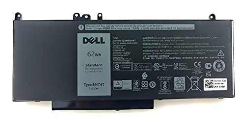 Genuine Dell Latitude E5570 Battery - TYPE 6MT4T 7.6V 62WH 7V69Y 6MT4T TXF9M 79VRK 07V69Y 451-BBUQ from Dell