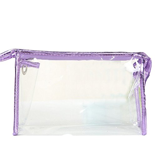 Demarkt Clear Make up Bags Travel Waterproof Cosmetic Bags Small Multifunctional Portable Toiletry Wash Bag for Women Girls Organizing Cosmetic from Demarkt