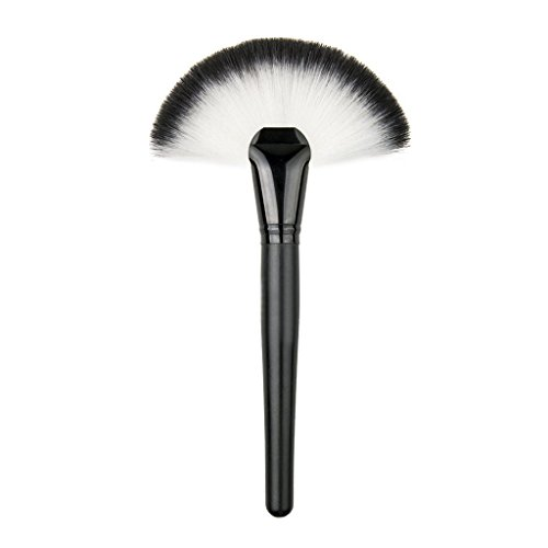 Demarkt Makeup Brush Large Slim Fan-shaped Cosmetic Brush Face Contour Powder Brush Blush Foundation Beauty Tool from Demarkt