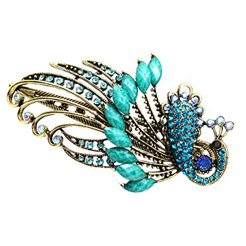 Demarkt Women Hair Clips Vintage Style Peacock Crystal Hair Barrettes Hair Ornament Accessories for Girls from Demarkt