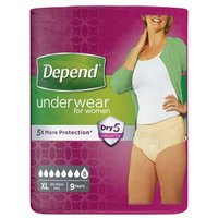 Depend for Women Incontinence Underwear Extra Large 9 Pants from Depend
