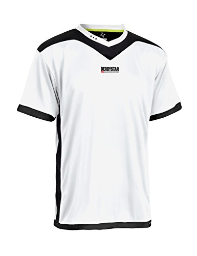 Derbystar Kid's Brilliant Jersey, White/Black, Size 164 from Derbystar