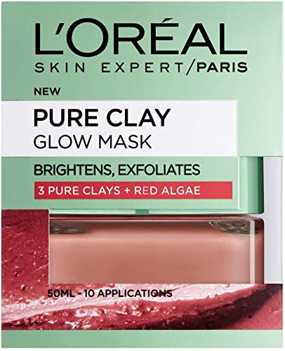 L'Oreal Paris 3 Pure Clays and Red Algae Glow Mask, 50 ml from L'Oreal