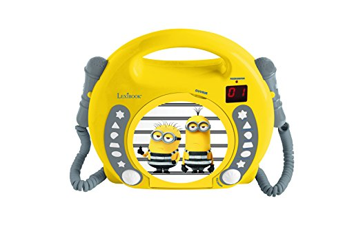 Lexibook RCDK100DES Universal Despicable Me Minions CD Player with 2 Microphones, Headphones Jack, Battery-Operated from LEXIBOOK