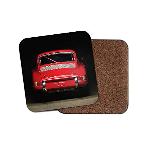 1 x Red Vintage Car Coaster - Sports Super Dad Uncle Men's Gift #12564 from DestinationVinyl