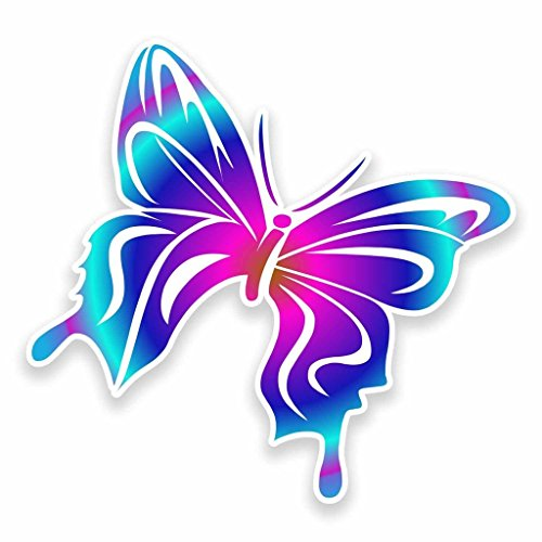 2 x 10cm/100mm Pretty Butterfly Vinyl Sticker Decal Laptop Car Travel Luggage Label Tag #9594 from DestinationVinyl