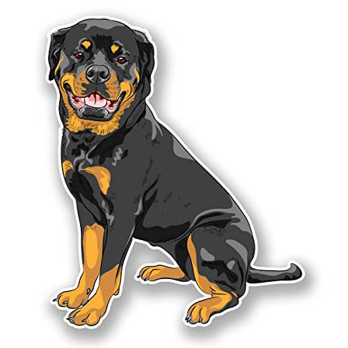 2 x 15cm Rottweiler Dog Sticker Car Bike Laptop Animal Gift Tablet Dogs #5983 (12.75cm Wide x 15cm Tall) from DestinationVinyl