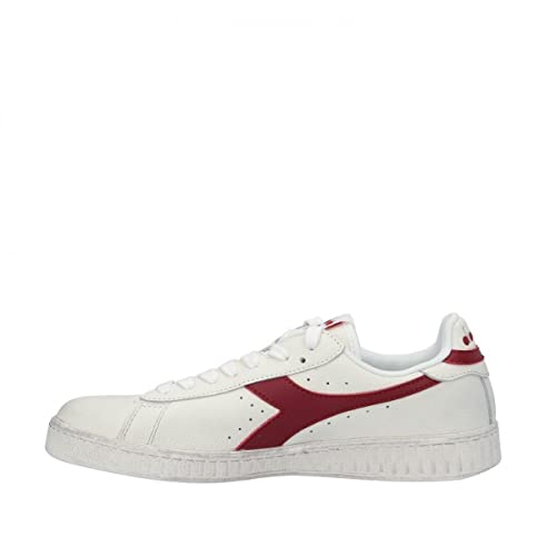 Diadora Unisex Adults' Game L Low Waxed Gymnastics Shoes, White (Bianco/Rosso Peperone C5147), 11 UK from Diadora