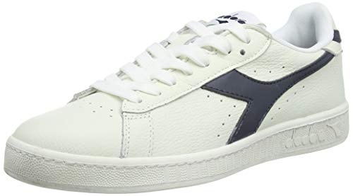 Diadora Unisex Adults' Game L Low Waxed Athletic, White, Off White (Bianco Blu Mar Caspio), 5 M US from Diadora
