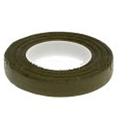 1 Roll Florist Stem Tape - Buttonhole Floral Craft Floristry Choose from Colours Green White Brown Lt Green (Green) from Diamante Crafts