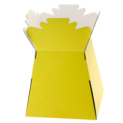 1 x Yellow Living Vase Bouquet Sweet Box (Yellow x 1) from Diamante Crafts