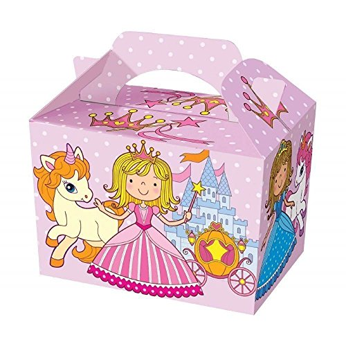 Diamante Crafts 10 Party Boxes -Themed Character Cardboard Lunch Food Loot Treat Box - 20 Design (Princess - 10 Boxes) from Diamante Crafts