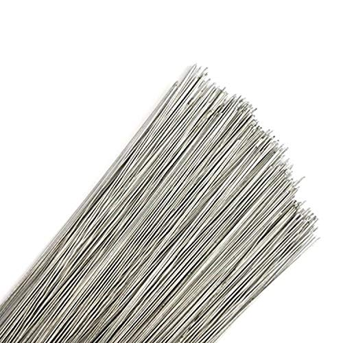 "200 Stems Silver Rose Stub Wire Florist Galvanised - 7"" Choose 26 28 30 32 swg (7"" - 28 Gauge - Silver) from Diamante Crafts"