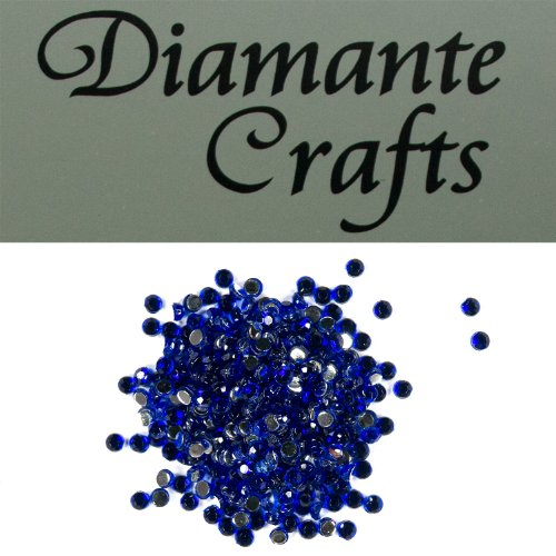 300 x 2mm Dark Blue Diamante Loose Round Flat Back Rhinestone Craft Gems created exclusively for Diamante Crafts from Diamante Crafts
