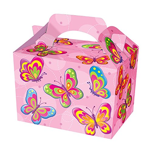 Diamante Crafts Party Boxes -Themed Character Food Loot Treat Box - 16 Designs - Choose Quantity (10 - Party Boxes, Butterfly) from Diamante Crafts
