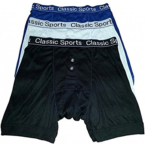 12 Pair Mens Designer Classic Sports Boxer Shorts Cotton Underwear Briefs Trunks Fly Boxer Trunks (Medium) from Diamond