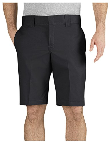 Dickies Men's 11 Inch Slim Fit Stretch Twill Work Short - Black - from Dickies