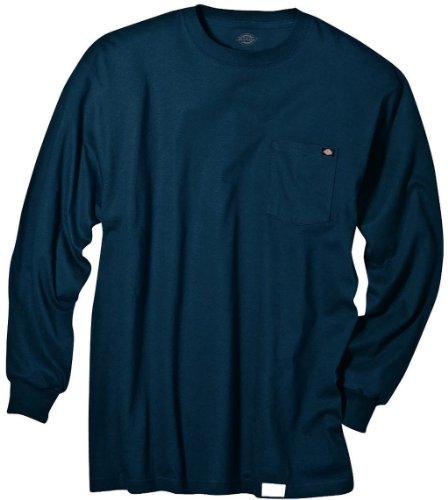 Dickies Men's Big & Tall Long-Sleeve Heavyweight Crew-Neck T-Shirt - Black - Large Tall from Dickies