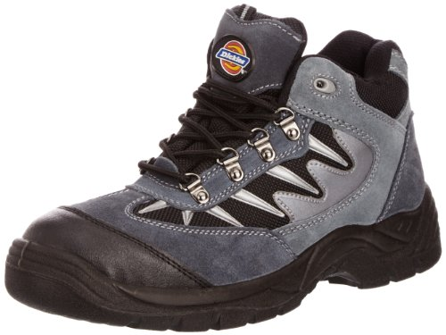 Dickies Men's Storm S1-P Safety Trainers FA23385A Grey/Black 10 UK, 44 EU Regular - EN safety certified from Dickies