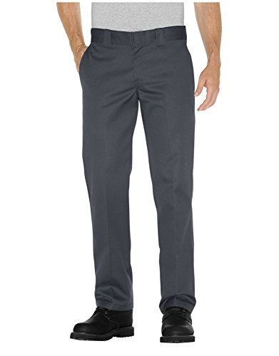 Dickies Men's Straight Work Slim Trousers, Charcoal grey - 30W x 30L from Dickies