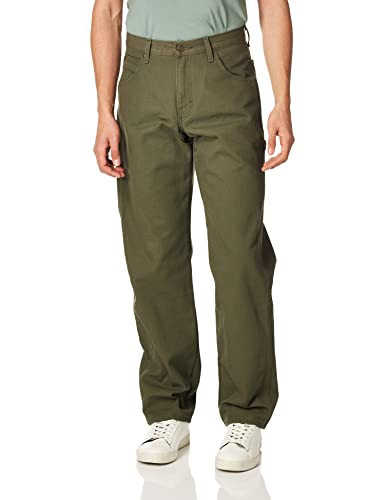 Dickies Mens Relaxed Fit Straight-Leg Duck Carpenter Jean Jeans - Green - from Dickies