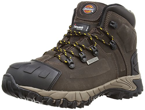 Dickies Unisex-Adult Medway S3 Safety Boots FD23310 Brown 8 UK, 42 EU - EN safety certified from Dickies