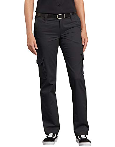 Dickies womensFP888Relaxed Fit Stretch Cargo Straight Leg Pant Work Utility Pants - Black - from Dickies