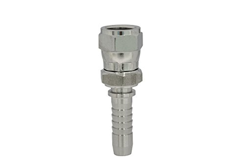 "Dicsa 842421206 Double Hexagonal JIC, 37 Degree Swivel female, Stainless Steel, , 3/4"" 16H UNF x DN 3/8"" from Dicsa"